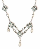 Swarovski Crystal Framed Flowers & Drops Necklace by Kenny Ma