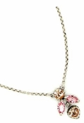 Swarovski Crystal Double Marquise & Bezel Heart Pendant Necklace by Kenny Ma