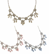 Swarovski Crystal Multi Round Filigree & Drops Necklace by Kenny Ma