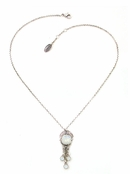 Swarovski Crystal White Opal Chandelier Necklace by Kenny Ma
