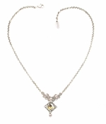 Swarovski Crystal Faceted Filigree Drop Necklace by Kenny Ma