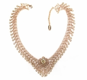 Swarovski Crystal Floral Woven Chain & Channels Necklace by Kenny Ma