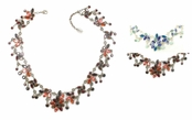 Swarovski Crystal Marquise Multi Floral Necklace by Kenny Ma