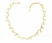 Swarovski Crystal Marquise Golden Branch Necklace by Kenny Ma