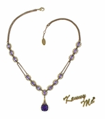 Swarovski Crystal Purple Multi Double Strand Necklace by Kenny Ma