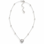 CAROLEE Crystal Illusion Geometic Pendant Necklace