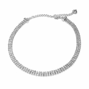 CAROLEE Three Row Crystal Necklace
