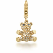 CAROLEE Pave Crystal Teddy Bear Charm