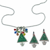 Holiday Wishes Necklace & Earrings Set by Kirks Folly