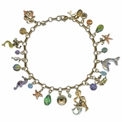 Mermaid Magic Multi Charm Anklet by Kirks Folly
