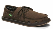 Mens Brown Overboard Sunbrella Sidewalk Surfers by Sanuk