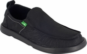 Mens Black Vagabond Steppe Lo Sidewalk Surfers by Sanuk