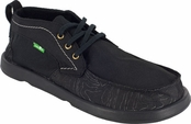 Mens Black Vagabond Steppe Hi Sidewalk Surfers by Sanuk