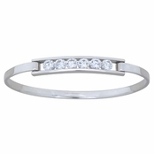 Contemp CZ Tension Set Bracelet by Kit Heath