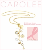 Carolee 2010 Breast Cancer Awareness Charm Necklace
