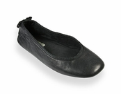 Twyla Black Nappa Leather Ballet Flats by Patricia Green