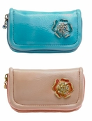 Spring Street Flower Power Change Purse/Card Holder Combo