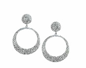 Jet Setter Oval Pave Hoop Earrings by Spring Street