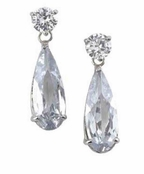 Jet Setter  CZ Teardrop Earrings by Spring Street