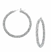 Evening Jazz Pave Hoop Earrings by Spring Street