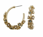 Spring Street Flower Power Hoop Earrings