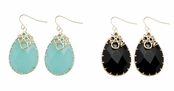 Spring Street Luminosity Semi-Precious Gemstone Drop Earrings