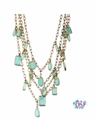 Multi Strand Blue Drops Necklace by Danielle Stevens