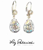 Swarovski Crystal Moonlight Teardrop Leverback Earrings by Liz Palacios