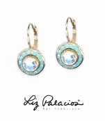 Swarovski Crystal Bezel Leverback Earrings by Liz Palacios