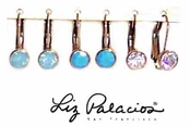 Swarovski Crystal Bezel Round Leverback Earrings by Liz Palacios