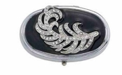 Empire Collection Crystal Oval Pill Box by Spring Street