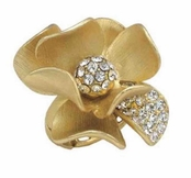 Floral Radiance Gold Flower Ring by Spring Street