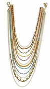 Maharaja Palace Multi Strand Beaded Swag Necklace by Spring Street
