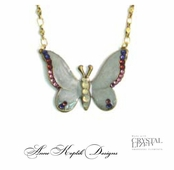 Swarovski Crystal Multi Butterfly Necklace by Anne Koplik