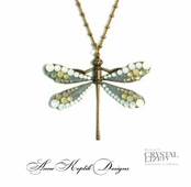 Swarovski Crystal Dragonfly Necklace by Anne Koplik
