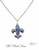 Swarovski Crystal Fleur de Lis Inspired Necklace  by Anne Koplik