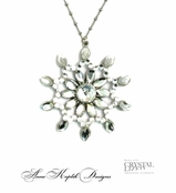Swarovski Crystal Snowflake Inspired Necklace by Anne Koplik