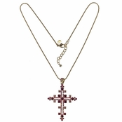 Crystal Shalimar Cross Necklace by Kirks Folly
