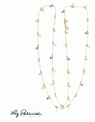 "Swarovski Crystal Multi Gemstone 42"" Necklace by Liz Palacios"