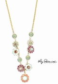 Swarovski Crystal Multi Floral Necklace by Liz Palacios
