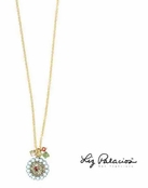 Swarovski Crystal Petite Filigree Necklace by Liz Palacios