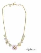 Pastel Multi Swarovski Crystal Necklace by Liz Palacios