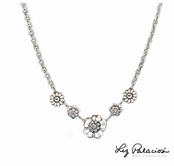 Swarovski Crystal Multi Flower Necklace by Liz Palacios