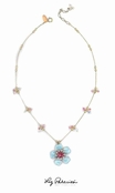Swarovski Crystal Enameled Flower Necklace by Liz Palacios