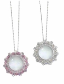 Winter Queen Crystal Flower Magnifier Necklace by Spring Street