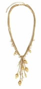 The Gilded Collection Leaves & Pearls Necklace by Spring Street