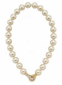 Elegance Pearl Necklace With Crystal Clasp by Spring Street