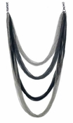 Midnight Shimmer Mixed Metal Lanyard Necklace by Spring Street