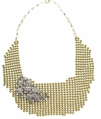 Spring Street Mesh Madness Mesh Necklace With Crystal Brooch