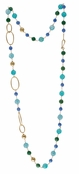 Spring Street Beach Glass Semi-Precious Long Beaded Necklace